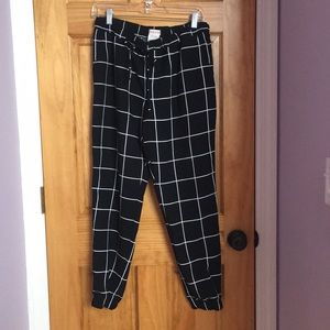 Black and White Patterned Joggers